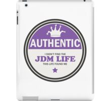 Authentic jdm life found me badge - purple iPad Case/Skin