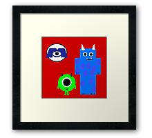 Mike and Sully Framed Print