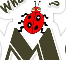 OMG What? Funny & Cute ladybug line art Sticker