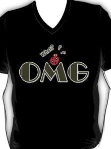 OMG What? Funny & Cute ladybug line art T-Shirt