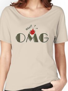OMG What? Funny & Cute ladybug line art Women's Relaxed Fit T-Shirt