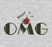 OMG What? Funny & Cute ladybug line art One Piece - Long Sleeve