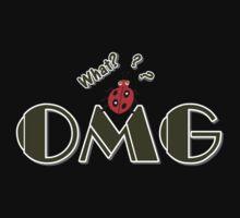 OMG What? Funny & Cute ladybug line art Kids Tee