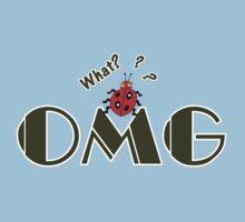 OMG What? Funny & Cute ladybug line art One Piece - Short Sleeve