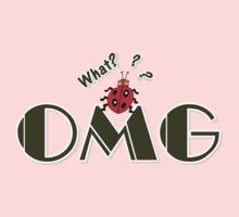 OMG What? Funny & Cute ladybug line art Baby Tee