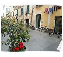 Street Scene in Levanto Poster