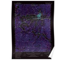 USGS Topo Map Oregon Grants Pass 282543 1954 62500 Inverted Poster