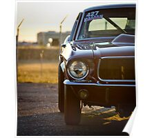 Mustang Fastback at the drag strip Poster