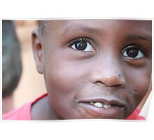 Young Girl in Kampala Slums Poster