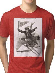 Votes for Women Punch cartoon 1908 Tri-blend T-Shirt