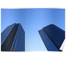 Buildings towards the sky Poster
