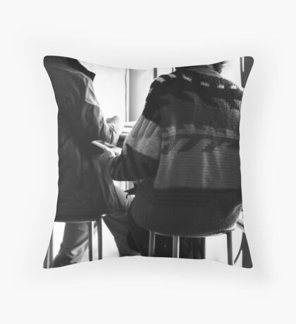 Anything goes, against Winter chill - II Throw Pillow