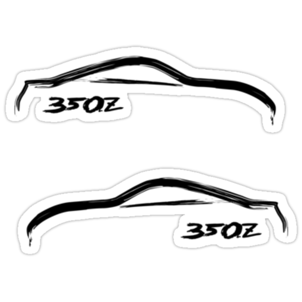 (2) Nissan 350Z Brush Stroke Decals by avdesigns