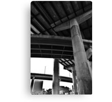 Where the Lines Overlap Canvas Print
