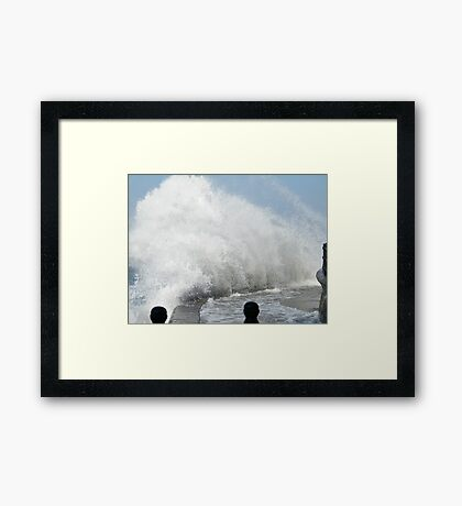 Rough at the Front Framed Print