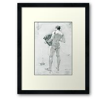 figure with accordion Framed Print