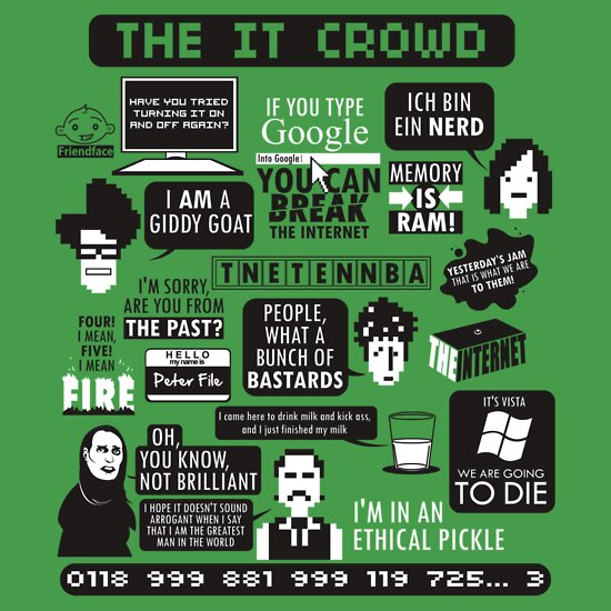TShirtGifter presents: The IT Crowd Quotes