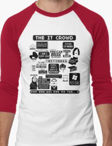 The IT Crowd Quotes Men's Baseball ¾ T-Shirt