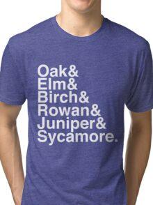 Helvetica Pokemon Professors Tri-blend T-Shirt