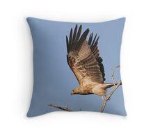 whistling kite Throw Pillow
