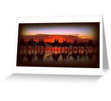 Broome Camel Train Greeting Card