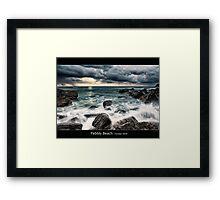 Pebbly Beach - Forster NSW Framed Print