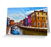 colour of venice Greeting Card