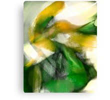 Green Fish Yellow Canvas Print