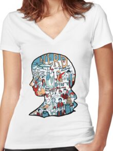 Nerd Girls: Set Phasers to Stunning Women's Fitted V-Neck T-Shirt