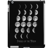 Astronomy Chart, Phases of the Moon, Lunar chart iPad Case/Skin