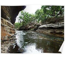 The Drip Gorge, Goulburn River, NSW Poster