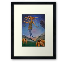 Dancing on a wire Framed Print