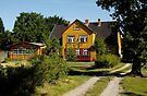 MVP84 Yellow house, Prerow, Germany. by David A. L. Davies
