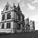 Moreton Corbet Castle B&W by dunawori