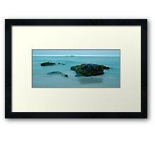 The blue light of night - Sandvesanden Framed Print