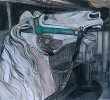 Carousel Horse Head by WoolleyWorld