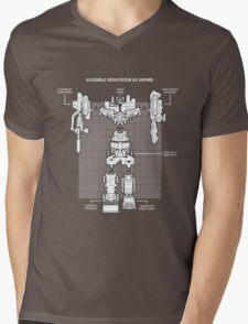 Devastator Mens V-Neck T-Shirt