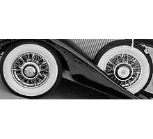 Wire wheels Photographic Print