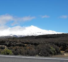 Mt Ruapehu from the Desert road by sid201