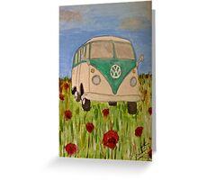 Classic VW Splitty Greeting Card