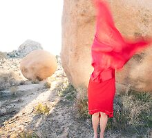 Abstract Red Woman by Elena Ray