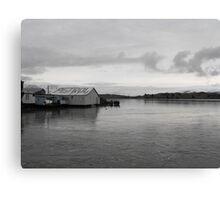 Rawene, as the Ferry leaves Canvas Print