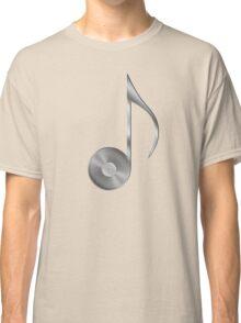 Vinyl Record Musical Eighth Note - Metallic - Steel Classic T-Shirt