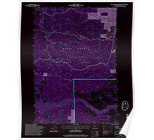 USGS Topo Map Oregon Rock Creek Reservoir 281296 1996 24000 Inverted Poster