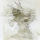 Ship in the branches of a tree by Natalya   Tabatchikova