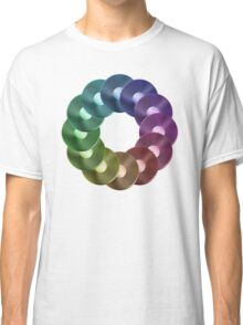 Ring of Vinyl LP Records - Metallic - Rainbow Classic T-Shirt