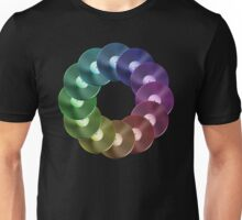 Ring of Vinyl LP Records - Metallic - Rainbow Unisex T-Shirt