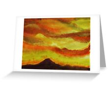Sunrise over San Miguel, watercolor Greeting Card