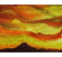 Sunrise over San Miguel, watercolor Photographic Print