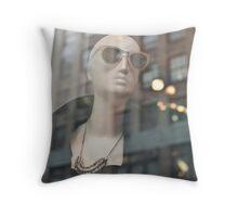Baldy, the New York Mannequin Throw Pillow